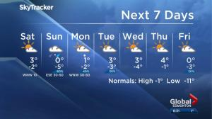 Edmonton weather forecast: Nov. 24