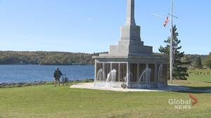 Military memorial in Halifax heavily vandalized