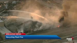 Fire at Calgary Metal Recycling