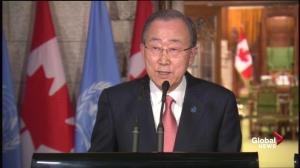 UN Secretary General 'counting' on Canada to play greater role in international development