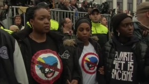 """Angry scenes as activists oppose Dutch celebration featuring """"Black Pete"""""""