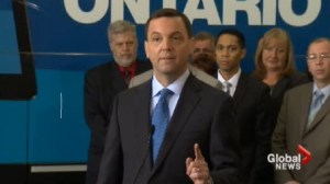 Day one of the official election campaign of PC Leader Tim Hudak