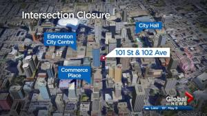 Downtown intersection to close for 4 weeks amid LRT construction