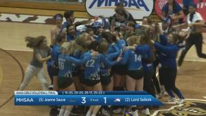 HIGHLIGHTS: Girls Volleyball Final Jeanne Sauve vs Lord Selkirk