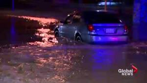 Heavy downpours cause flash flooding in Hamilton area last night