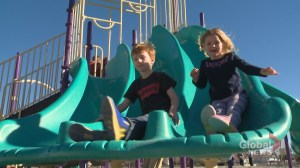 Calgary woman follows family footsteps on playground project: 'History repeating itself'