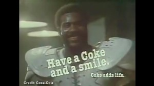 """Super Bowl classic commercial:  """"Mean"""" Joe Greene  and the kid"""