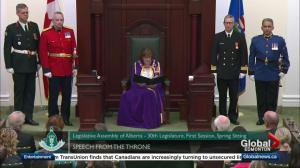 Alberta throne speech focuses on renewal
