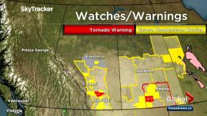Tornado warning issued for Vulcan County