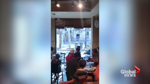 Tourists film aftermath of Barcelona attack from cafe across the street