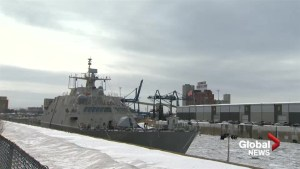 U.S. combat ship to winter in Montreal