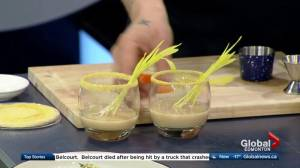 Why Not Cafe & Bar in the Global Edmonton kitchen shows off cereal cocktail from northern Canadian comfort food dinner (3/3)