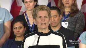 Premier Kathleen Wynne compares Doug Ford to Donald Trump