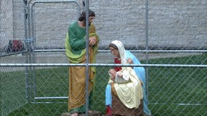 Indianapolis church cages Jesus, Mary and Joseph nativity to protest Trump immigration policy