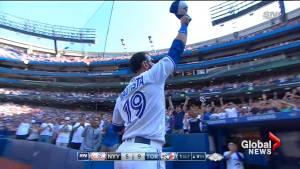 Jose Bautista raises cap in probable curtain call as Toronto Blue Jay