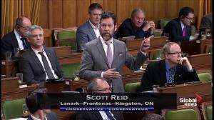 Tories accuse Liberal MP of filling up during filibuster