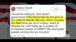 Trump threatens U.S. government shutdown