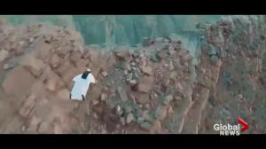 Wingsuit daredevil dies while flying in China