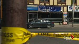 Numerous shootings outside east-end Toronto cafe