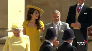 Royal Wedding: George and Amal Clooney arrive at chapel