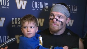 RAW: Blue Bombers Adam Bighill Post Game Interview
