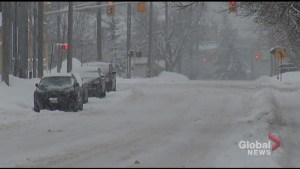 Winter storm dumps mix of snow and rain on Peterborough