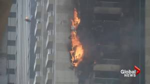 Fire breaks out at residential skyscraper in Dubai