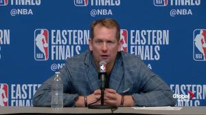 Raptors head coach says plays in final minutes made difference in Game 1