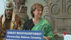 Christy Clark announces Great Bear Rainforest deal