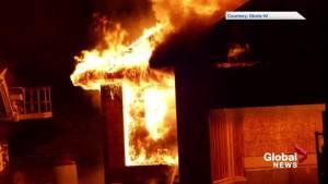 Fire guts show home in Okotoks