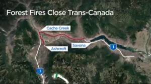 BC wildfires close highways around the province