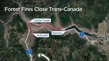 BC wildfires lead to a number of highway closures