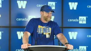 RAW: Blue Bombers Mike O'Shea Media Briefing – July 17