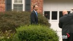 Rod Rosenstein leaves his home Tuesday as rumours continue to swirl