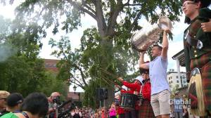 Jake Allen brings Stanley Cup to Fredericton