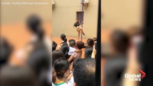 Pole dancer welcomes Chinese kindergarten students on 1st day of school, horrifying some parents