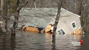 Grand Lake, N.B. takes severe beating as waves destroy shoreline homes and cottages