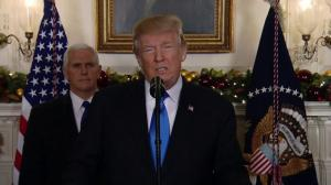 Trump announces U.S. recognition of Jerusalem as Israel's capital