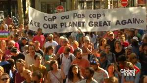 Thousands march in Paris to demand action on climate change