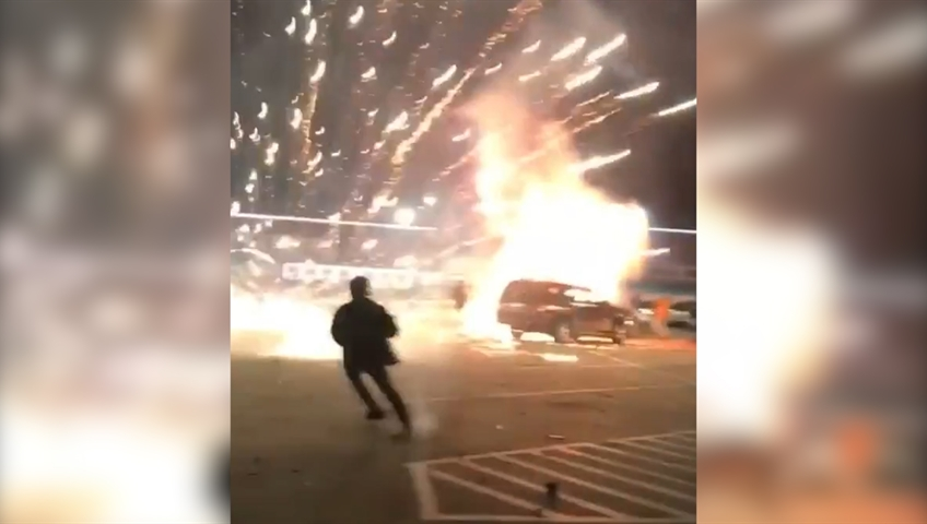 Caught on Camera: Fireworks explode in Texas man's trunk