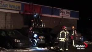 Blaze next to West Kelowna gas station suspicious
