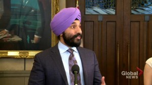 Bains says dropping retaliatory tariffs against U.S. would mean 'unilateral surrender' to Americans