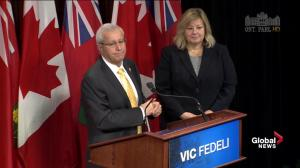 Fedeli ready to stand behind whoever elected Ontario PC leader