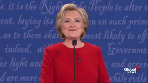 Presidential debate: Clinton jokes she's going to be blamed for 'everything that's ever happened'