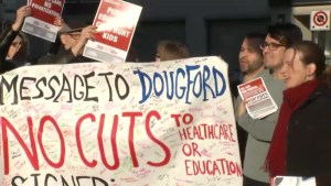Kingstonians protest funding cuts to public services