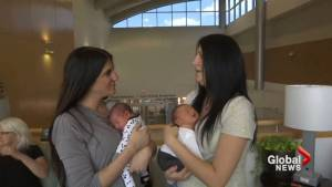 Twin sisters deliver baby boys on same day
