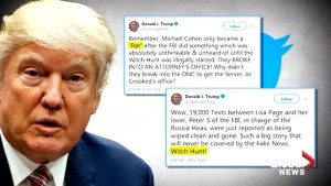 U.S. President Donald Trump calls ex-lawyer Michael Cohen a 'rat'