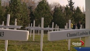 Field of Crosses blankets Memorial Drive to honour Alberta's fallen soldiers