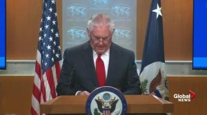 Tillerson announces he will start delegating responsibilities as of midnight Tuesday