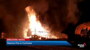 Large blaze in Cochrane